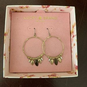 Lucky brand🍀 hoop earrings
